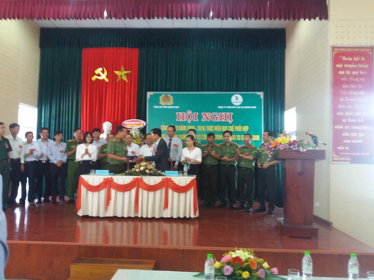 Hội nghị tổng kết 10 năm Quy chế phối hợp với Công an Quảng Nam