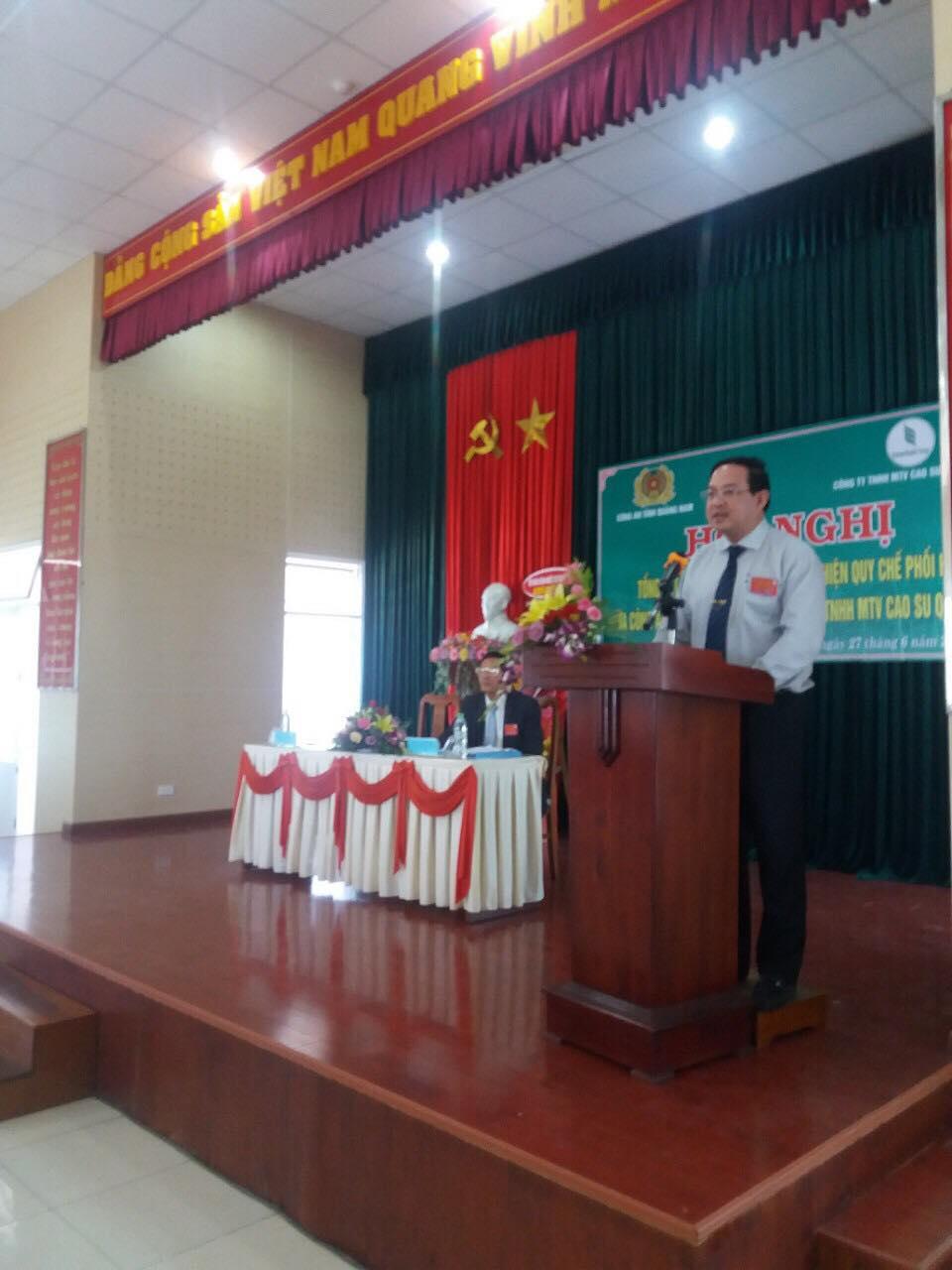 Đồng chí Trương Minh Trung - Phó Tổng Giám đốc Tập đoàn phát biểu tại Hội nghị